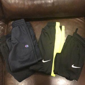 Bundle of 4 boy Nike pants